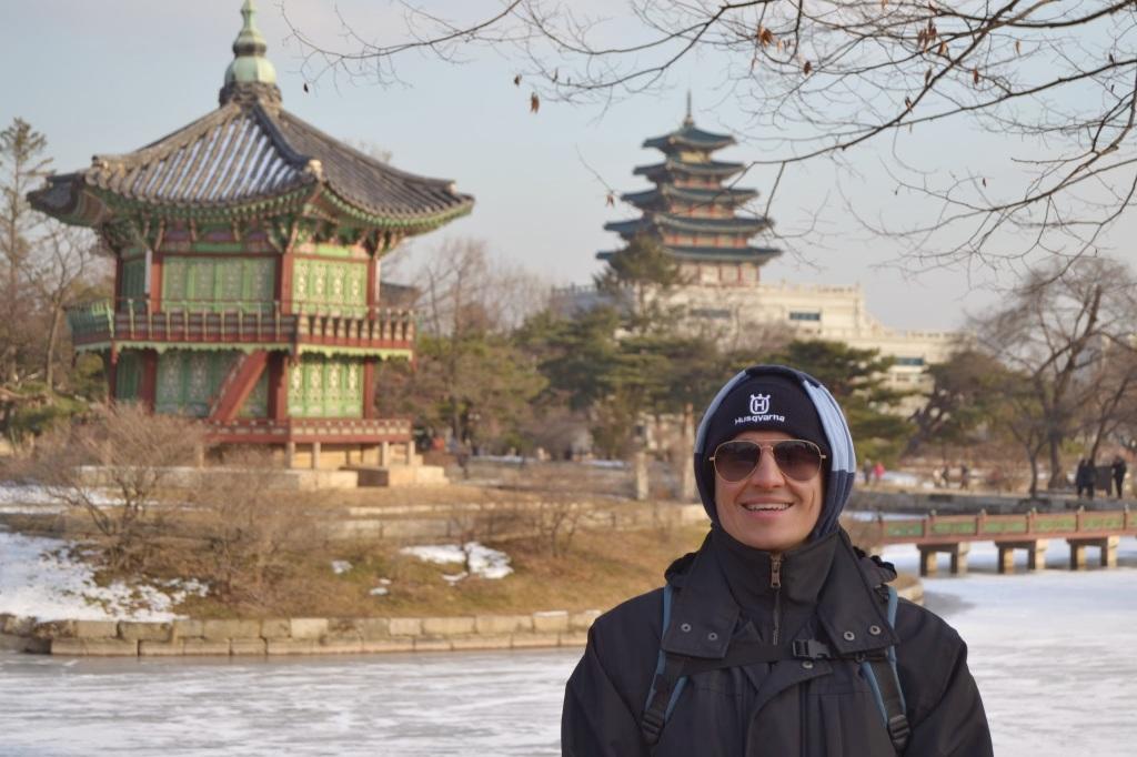 William at Gyeongbokung Palace in Seoul, Korea.